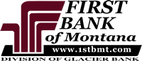 First Bank of Montana - www.1stbmt.com - Division of Glacier Bank logo